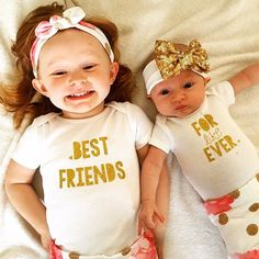 Baby Girl Clothes...Sister Shirts...Best Friends For Like Ever...Best Friends Shirts...Twin Girl Clothes...Baby BFF Bodysuits...Baby Girl by SweetChubbyCheeks on Etsy https://www.etsy.com/listing/290166967/baby-girl-clothessister-shirtsbest