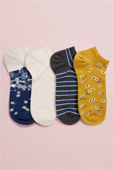 Low Rise Trainer Socks Four Pack in