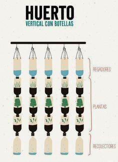 Una forma de hacer h     Una forma de hacer huerta vertical con botellas    www.dondereciclo.org