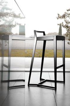 contemporary bar chair POURPARLER by Claudio Perin TEKHNE S.r.l.