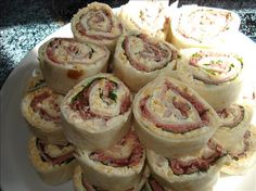 Horseradish Beef Roll ups from Food.com: Got these from another site. These zesty little appetizers are very pretty and easy to make! They taste even better when made in advance and allowed to chill overnight. Cook time is chill time.