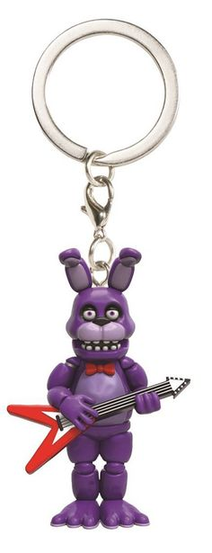 From Five Nights at Freddy's, Bonnie, as a stylized keychain from Funko! Figure on keychain stands 1 1/2 inches tall. Take them wherever you go! Check out the other Five Nights at Freddy's figures fro