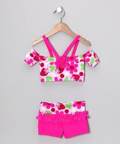 Pink Dance Top & Shorts. another gymnastic outfit