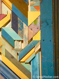 Anthropologie Scrap Art window display