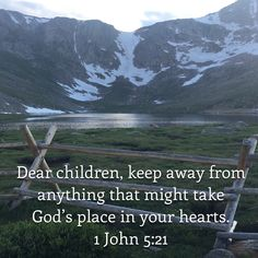 1 John Dear children, keep away from anything that might take God's place in your hearts. Jesus Art, Jesus Christ, Bible Verses Quotes, Bible Scriptures, Broccoli Cauliflower, King Jesus, Bible Teachings, Bible Knowledge, New Living Translation