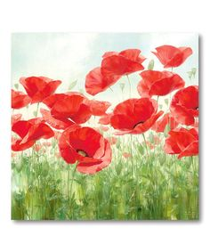 Take a look at this Red Poppy Canvas Wall Art by COURTSIDE MARKET on #zulily today!