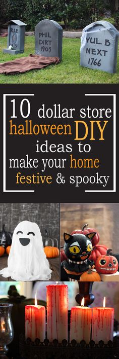 40+ Cheap  Easy DIY Halloween Decorations Dollar store halloween - cheap halloween decor ideas