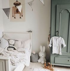 Kid room decor - I often think that if I didn't work in fashion then my B plan would be interiors I apply the same rules to dressing a room that I use for dressing myself… nothing too crazy with the colour palett Baby Bedroom, Baby Boy Rooms, Girls Bedroom, Nursery Decor, Room Decor, Nursery Ideas, Kids Room Design, Baby Design, Girl Room