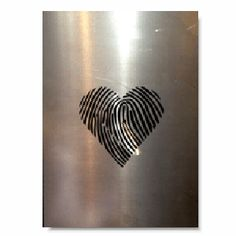 Industrial steel Thumbprint heart