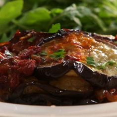 Amazing casserole - takes the idea of eggplant parm and lightens it up calorie-wise, not taste.