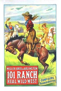 Advertisement /Poster :: Cowgirl Bronco Buster