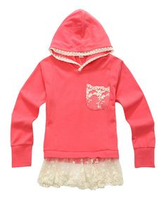 Look what I found on #zulily! Salmon Skirted Hoodie - Toddler & Girls #zulilyfinds