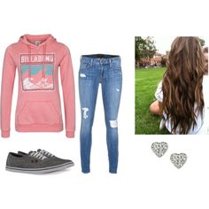 """Casual FALLLL"" by gonnamakeyousting on Polyvore"