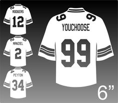 Hey, I found this really awesome Etsy listing at https://www.etsy.com/listing/209974328/custom-football-jersey-decal-choose-name