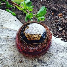 40 00 Orgone Energy Locket Necklace Orgonite Silver Lotus