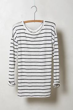 Slim Striped Linen Pullover