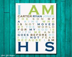 I Am His. Son of a King. Christian Wall Art. by LittleLifeDesigns, $8.00