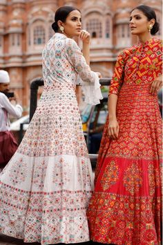 Indo western floor length gown DM to order by Fashion Hub Dress Indian Style, Indian Fashion Dresses, Indian Outfits, Ethnic Outfits, Ethnic Wear Designer, Indian Designer Outfits, Designer Dresses, Indian Gowns, Indian Attire