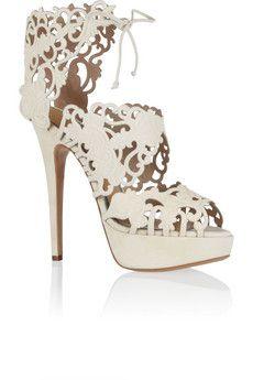 Charlotte Olympia Belinda cutout suede sandal