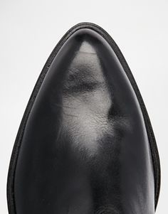 Enlarge Dune Pallano Leather Pointed Chelsea Boot With Cleated Sole