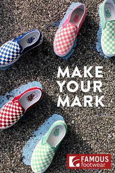 Kick it in retro-cool Vans slip-on sneakers. Make your mark in fun inspired colors. Vans Slip On Shoes, Me Too Shoes, Shoes Sneakers, Superga Sneakers, Sneakers Fashion, Fashion Shoes, Cute Vans, Sneaker Boots, Custom Shoes