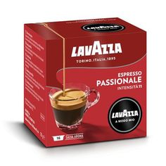 Lavazza A Modo Mio Passionale Coffee Capsules - Coffee - Kaffee Best K Cups, Italian Coffee, Coffee Branding, V60 Coffee, Espresso, Caramel, Tableware, Strong, Passion
