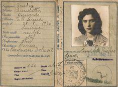 Enrichetta's Italian identity card from Vintage Posters, Vintage Photos, Passport Template, Grafik Art, Overlays Tumblr, Handsome Arab Men, Collage Template, Vintage Book Covers, Postcard Art