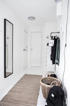 Serene and Simple 40-Square-Meter Apartment - NordicDesign #entryhall #hall #hallway