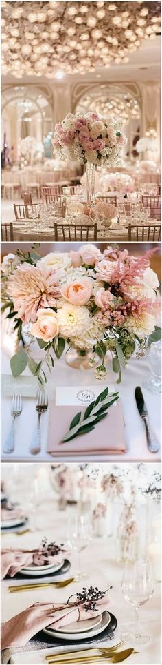 Elegant wedding table setting ideas #wedding #weddingdecor #weddingideas