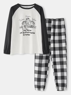 Cute Comfy Outfits, Cute Outfits For Kids, Trendy Outfits, Plaid Pajamas, Cute Pajamas, Winter Outfit For Teen Girls, Jugend Mode Outfits, Cute Pajama Sets, Cute Sleepwear