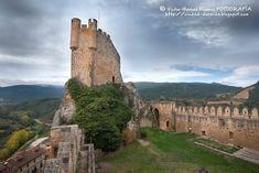 Frías, interior del castillo de los Velascos o de los Duques de Frías. Castilla León.