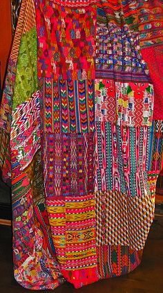 This Guatemalan quilt is vibrant and full of movement. Have anything similar you'd like to share?