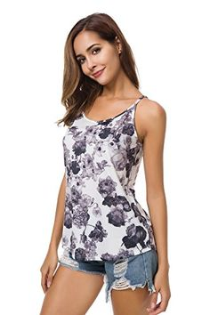 1b1033fb3607f Malist Tank Top for Women Floral Summer Casual T-Shirt Outdoor Or Beach in  2018