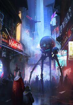 Sci-Fi Environment Design by Sergey ZabelinArtStation at https://www.artstation.com/artwork/KE6E4