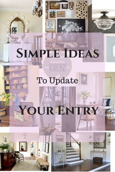 Highlights To Update Your Entry/Foyer - Classic Casual Home