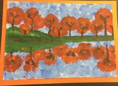 Autumn reflections - paint