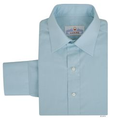 Luxire dress shirt constructed in Alumo Aqua Macro Gingham: http://custom.luxire.com/products/alumo_aqua_macro_gingham  Consists of semi-spread collar and 2 button cuffs.