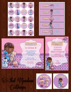 Doc McStuffin Printable Birthday Party Pack by ShuliGoodmanDesigns, $10.00