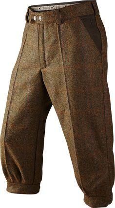 TORRIDON BREEKS. Luxurious tweed breeks in 100% British Wool with waterproof, breathable GORE-TEX® membrane, dirt repellent Teflon finish and genuine nubuck leather reinforcements in all exposed areas.