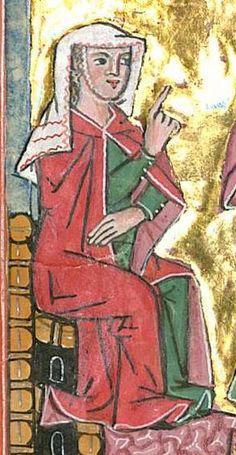 Rudolf : Weltchronik Bistum Passau, um 1300 Cgm 6406  Folio 40 Jack Daniels Fudge, Medieval Hairstyles, High Middle Ages, Medieval World, Medieval Clothing, Medieval Dress, Fitness Gifts, 14th Century, Illuminated Manuscript