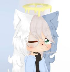 's typing. This is just a little present to my friend ❤ . Cute Anime Chibi, Anime Girl Cute, Ricky Y Morty, Anime Wolf Girl, Anime Drawing Styles, Cute Kawaii Drawings, Cute Anime Character, Art Inspiration Drawing, Cute Posts