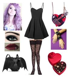 """""""Happy Valentines, Lukey! Love you so much. - Ivy"""" by shadow-cheshire ❤ liked on Polyvore featuring Godiva, Accessorize, Glamorous, women's clothing, women, female, woman, misses and juniors"""