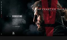 Metal Gear Solid V: The Phantom Pain © 2015 Official website proposal. This design direction were not used ( the live site is not my work ).