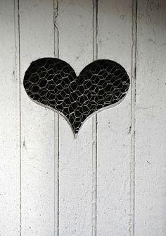 heart cut into door~love from start