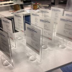 Glass certificates, simply a acrylic plate and a small cylinder with a cut in it :) Printed with a Roland VersaUV LEF.