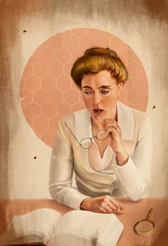 Mary Russell by rflaum {from Laurie R. King's Mary Russell and Sherlock Holmes series} Woman Reading, Reading Art, Sherlock Mary, Sherlock Holmes Series, Famous Detectives, Jeremy Brett, Best Mysteries, 221b Baker Street, Book People