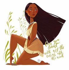 Pocahontas Character, Princess Pocahontas, Disney Pocahontas, Disney Princess Art, Disney Fan Art, Disney Girls, Disney Princesses, Disney And Dreamworks, Disney Pixar