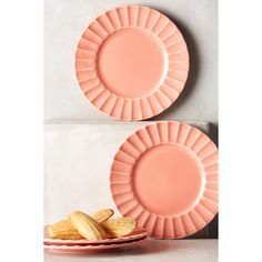 Anthropologie Latte Dessert Plates (63 CAD) ❤ liked on Polyvore featuring home…