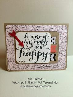 Stampin' Up! Occasions Hello Life Stamp Set.  www.stamplikeaprincess.com