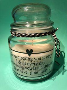 Kaars in pot : Remembering you is easy